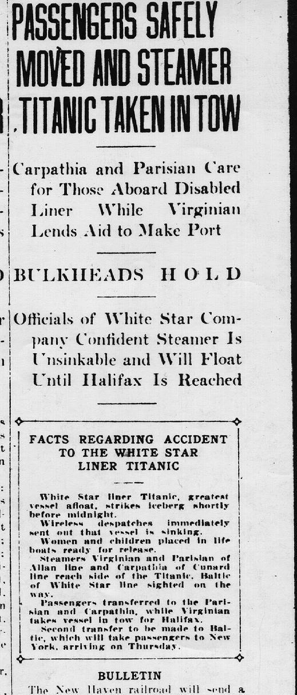 titanic journaux presse newspaper couverture fail 081 Le 15 Avril 1912 la presse annonce la catastrophe du Titanic  histoire featured