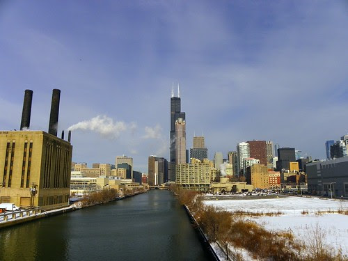 Sears  Willis Tower , Chicago ( view from south ) 1.10.2010