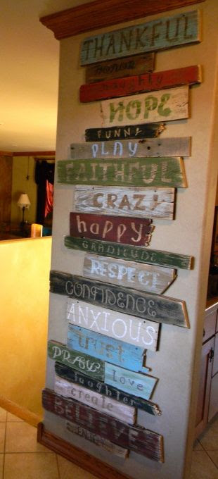 >Found this on HG Crafts< Wall of words, This is a project I made using a bunch of old wood an pallet wood i had. I cut sanded and then painted it in shades that match my decor. I used the Cricket machine to help with the letters and fonts....then distressed it using sandpaper, Wall of words, Home Decor Project