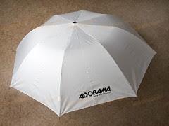 Adorama Umbrella with BIG free advertisement logo