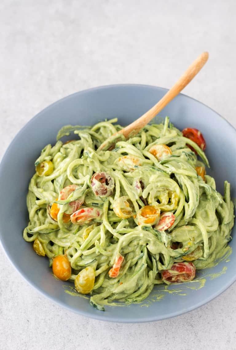 Zucchini Noodles with Avocado Sauce  Simple Vegan Blog