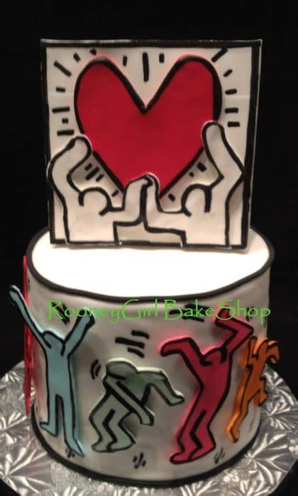 Keith Haring Pop Art Birthday Cake   Cake by Maria