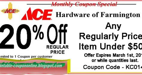 printable coupons  ace hardware coupons