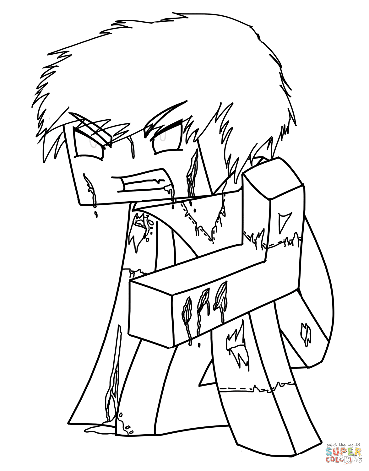 Minecraft Skins Coloring Pages Coloring Home