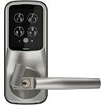 Lockly Secure Latch Edition - Door lock - key, electronic - smart lock - touch keypad - Bluetooth - satin nickel