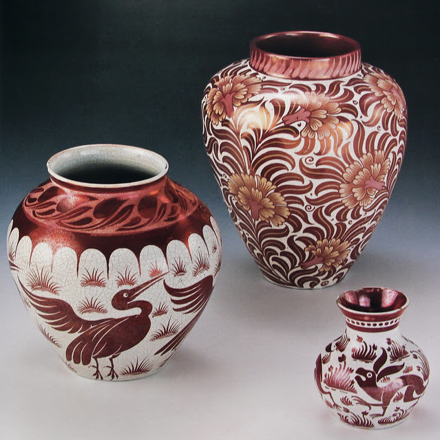 William De Morgan - lustre vases