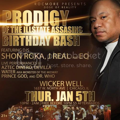 """DOSE OF REALITY"" Chicago Hip Hop Event, w/ DJs: SHON ROKA REAL ONE and EQ. Special Performances"