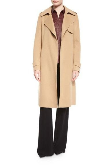 Theory Oaklane DF Divided Open-Front Trench Coat