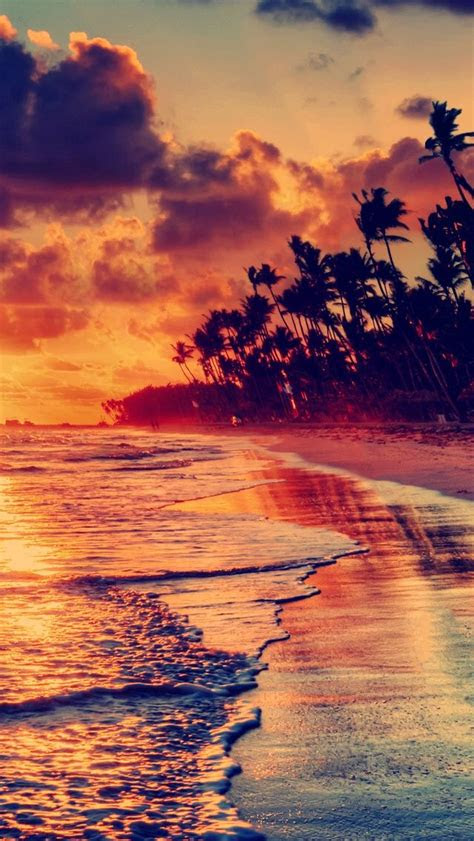 sunset beach iphone  wallpaper  iphone