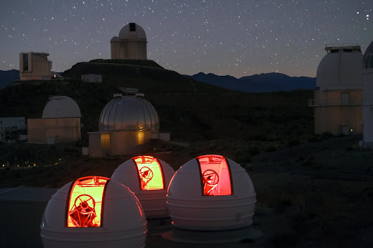 First Light for Planet Hunter ExTrA at La Silla
