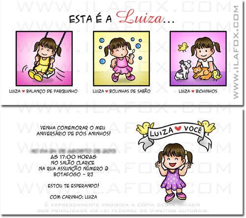 convite personalizado, convite criativo, convite original, convite infantil, convite em tirinhas, by ila fox