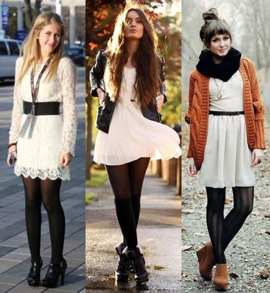 como usar vestidos de verão no inverno