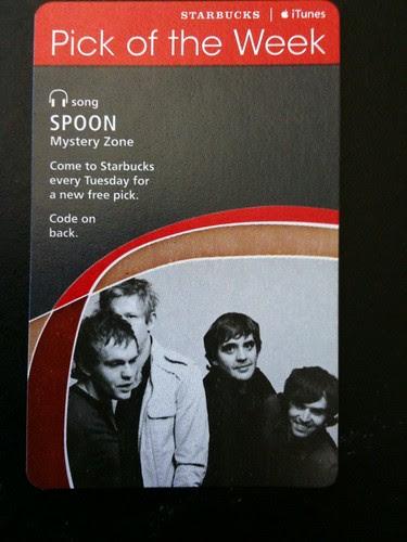 Starbucks iTunes Pick of the Week - Spoon - Mystery Zone #fb
