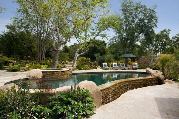 Above ground pool decks - 40 modern garden swimming pool ...