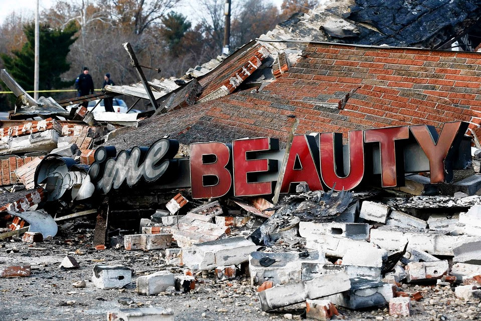 A local business in Ferguson, Mo., burned by rioters, Nov. 25.