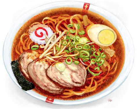 tokyo ramen show  anime food painting food art ramen