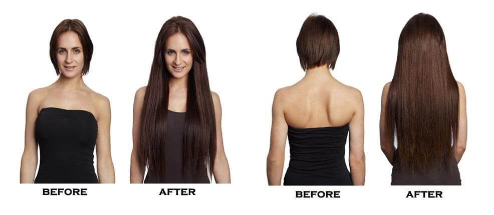 New 10 Inch Hair Extensions Before And After