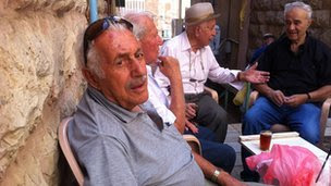 Vardika Shabo and friends in Mahane Yehuda market