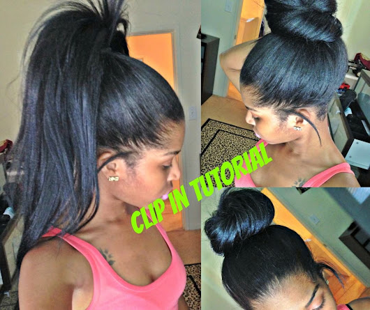 High Ponytail And Bun with Clip Ins - No Lumps [Video] - Black Hair Information Community