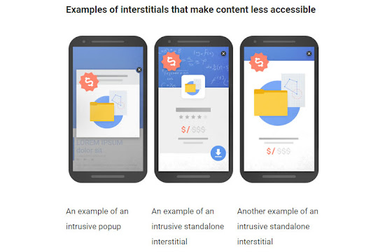 Google news - Downgrades for Intrusive Interstitial Ads | Carousel Projects