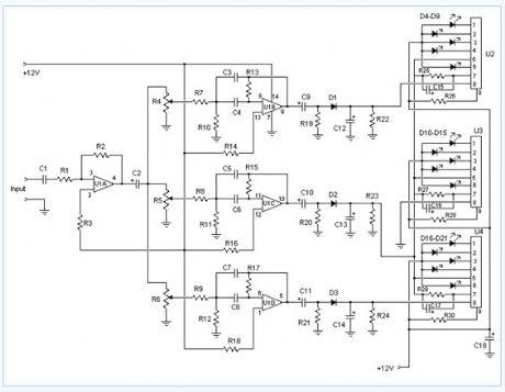 Audio Spectrum Analyzer Circuit Diagram