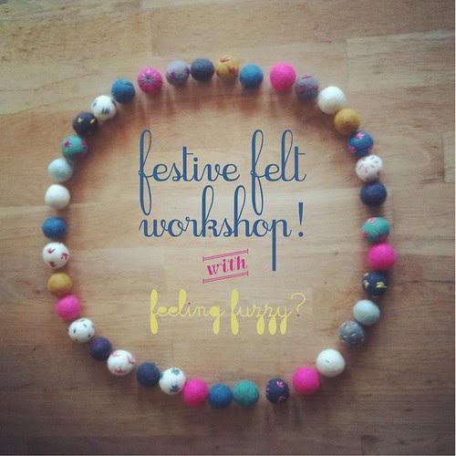 Festive Felt Workshop in Sydney!