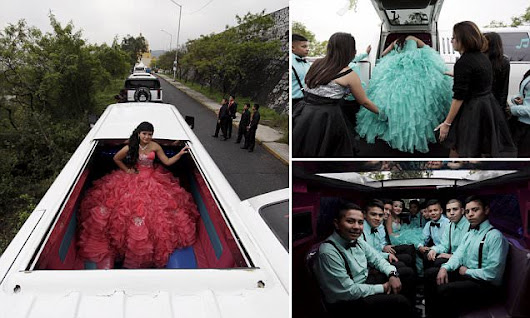 Mexican teen celebrates turning 15 with limo party