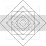 Squares overlapping pattern coloring sheets.