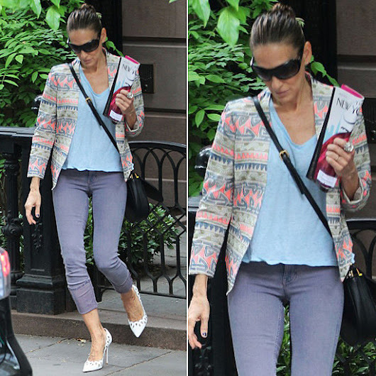 Sarah Jessica Parker Proves the Power of a Printed Jacket
