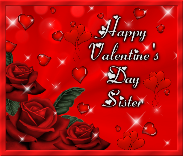Happy Valentines Day Sister Heart Quote Pictures Photos And