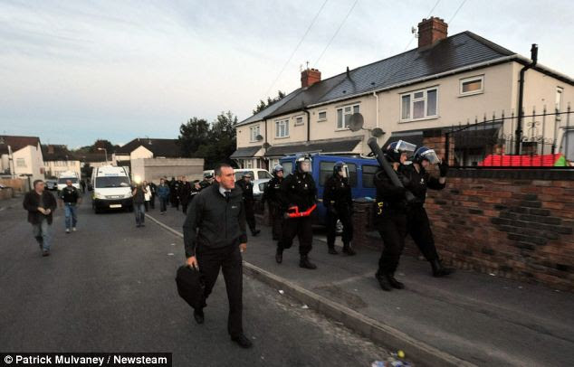 Thorough: A 32-year-old man was arrested in the West Midlands as part of the raids