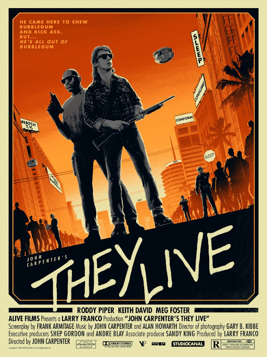 New Licensed 'They Live' Screen Prints