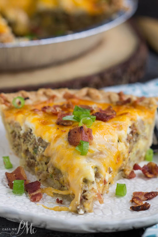 Bacon and Sausage Quiche » Call Me PMc