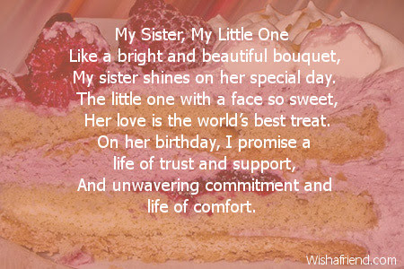 Sister Birthday Poems