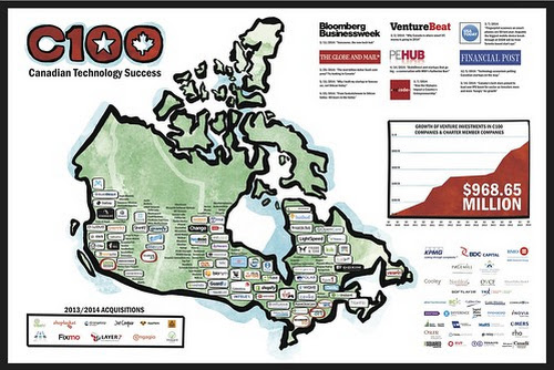 The C100 Map 2014 Edition: Showcasing Canadian Technology Success