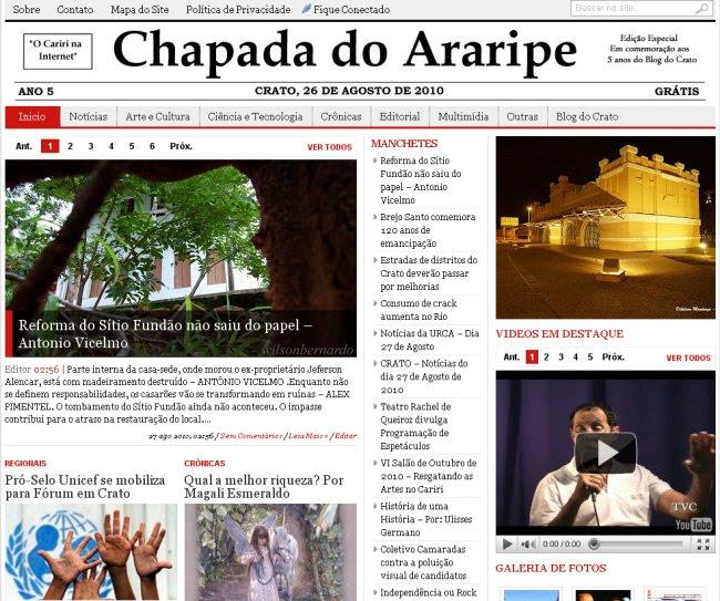 chapada do araripe capa 27 de agosto