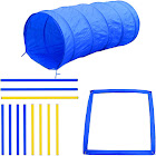 Pawhut Agility Obstacle Dog Training Kit, Blue