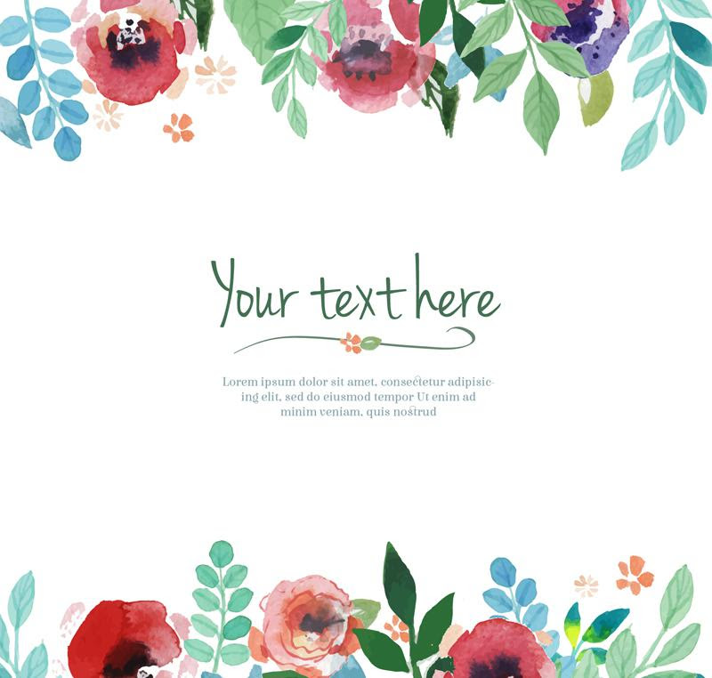 Color Flower Border Frame Background Vector Ai