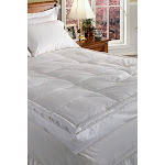 Luxury 5 inch Down Pillowtop Featherbed (KING) White - Blue