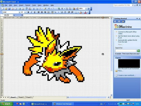 jolteon_excel_art