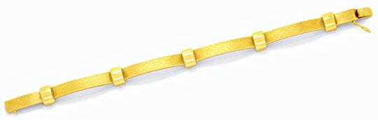 Foto 1, Designer Goldarmband Gelbgold, Bögen Kreuzmuster Luxus!, K2095