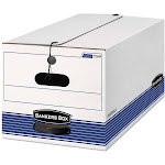 Bankers Box Stor/File - Storage box - Letter - white, blue (pack of 4)