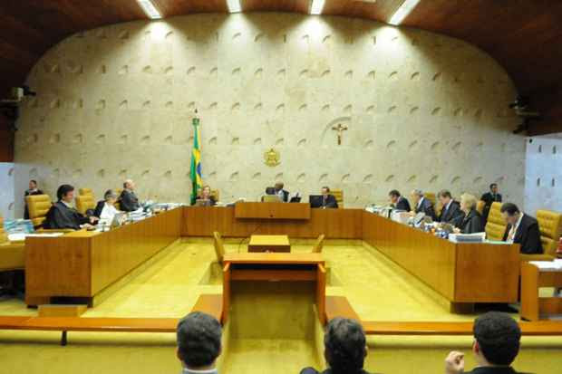 A sessão de hoje foi suspensa após uma discussão acalorada entre Ricardo Lewandowski e Joaquim Barbosa. Foto: Carlos Moura/CB/D.A Press