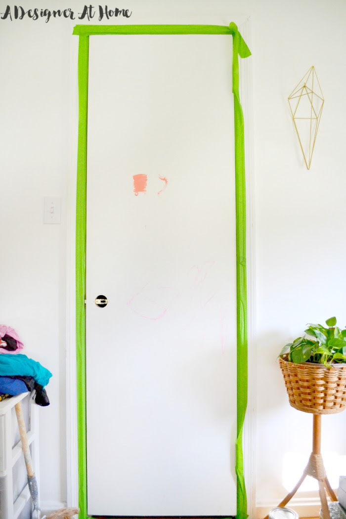 tape-out-door-from-frame-how-to-paint-a-door-without-removing-it-from-the-hinges