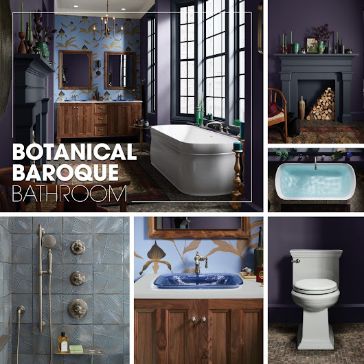 Botanical Baroque Bathroom | Kohler Ideas