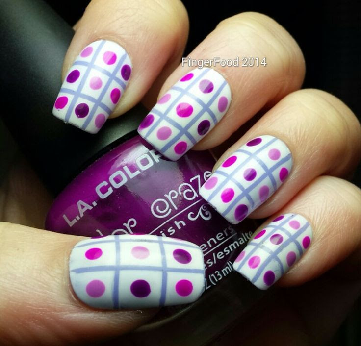 Purple - http://fingerfoodnails.blogspot.co.uk/2014/03/purple-madness-got-polish-theme-buffet.html