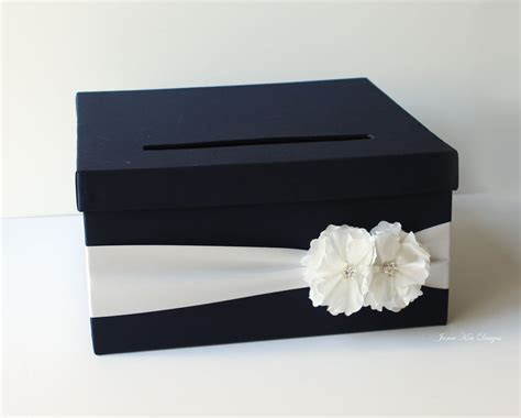 Navy Blue Wedding Card Box   Wedding Card Boxes   POPSUGAR