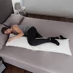 Memory Foam Body Pillow with Bamboo Fiber Cover- Antibacterial, Mildew