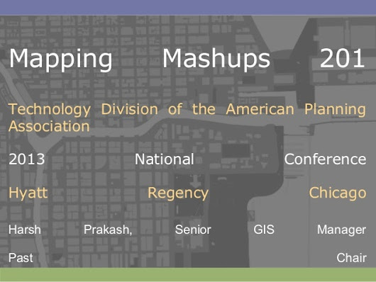 GIS TECH 201 - Mapping Mashups