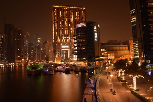 Dubai Marina Skyline At Night And My First Long Exposure Photography